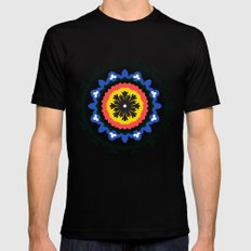 Bold and bright beauty of suzani patterns ver.9 MEDIUM Black Mens Fitted Tee