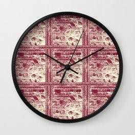 Stone Wall Pattern Wall Clock