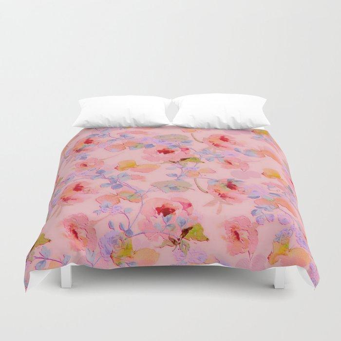 girly floral Duvet Cover