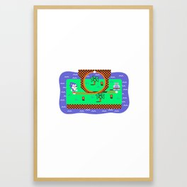 Overworld: Loop Framed Art Print