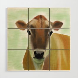 The Jersey - the prettiest cow in the world Wood Wall Art