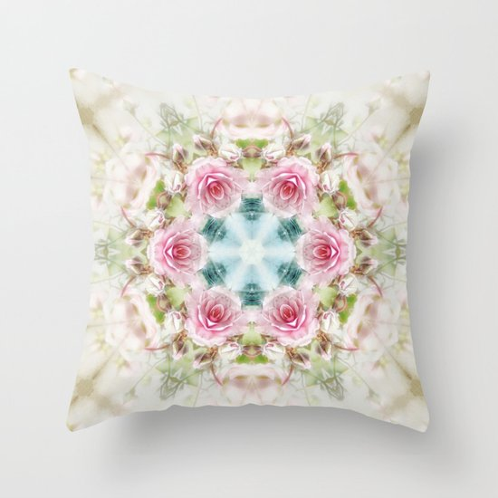 romantic rose (pattern/pillow) Throw Pillow