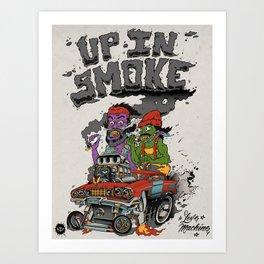 Cheech & Chong Love Machine Art Print