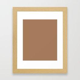 Café Au Lait - solid color Framed Art Print