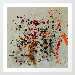Crayon Splat Art Print