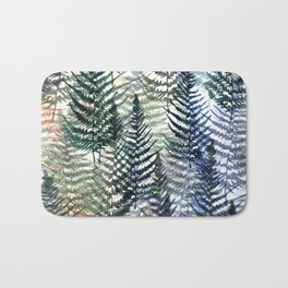 Watercolour Ferns Bath Mat