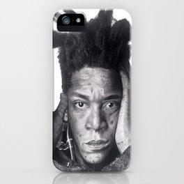 Jean-Michel Basquiat Drawing iPhone Case