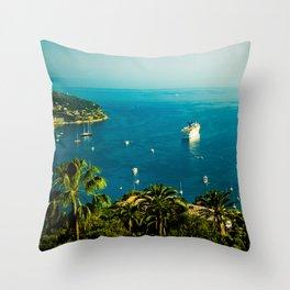 Côte d'Azur Throw Pillow