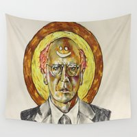 larry Wall Tapestries featuring Larry David by Carson Kaiser