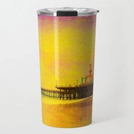 Yellow Purple Santa Monica Pier Travel Mug