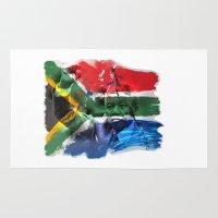 mandela Area & Throw Rugs featuring Nelson Mandela by Behrooz Falsafi