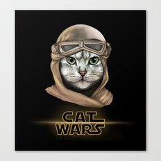 Cat Wars Rey Canvas Print