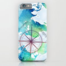 Watercolor map iPhone 6s Slim Case