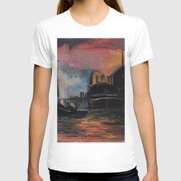 Misty Dock at Sunset T-shirt