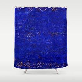 -A5- Royal Calm Blue Bohemian Moroccan Artwork. Shower Curtain