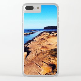 Perspective Rocks Clear iPhone Case