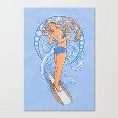 Surf Nouveau Canvas Print