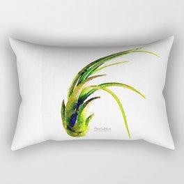 Tillandsia Paucifolia Air Plant Watercolors Rectangular Pillow