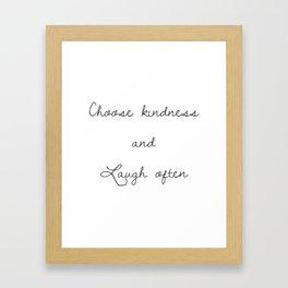 Choose kindness (Grey) Framed Art Print