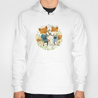 fox Hoodies featuring Fox Friends by Teagan White