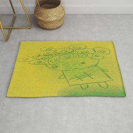 Curly Hair Girl Rug