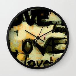 Concrete Love Wall Clock