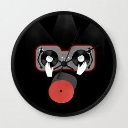 Red DJ Wall Clock