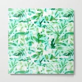 Abstract Jungle Metal Print