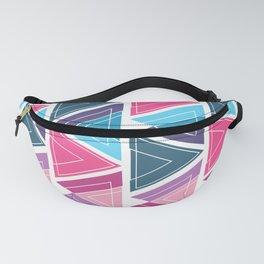 Girly Modern Pink Blue Triangle Geometric Fanny Pack
