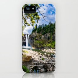 Snoqualmie Falls from Below iPhone Case