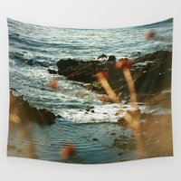 west coast Wall Tapestries featuring West Coast Oceans by Amy J Smith Photography