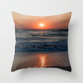 Canaveral Seashore Sunrise Throw Pillow