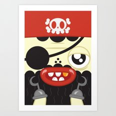 Pirate in Love Art Print