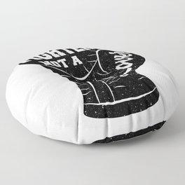 I'm A Fighter Not A Lover - Black Floor Pillow