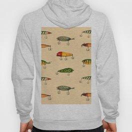 Vintage Fishing Lures Pattern Hoody