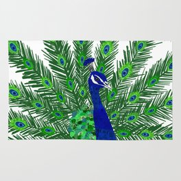 Peacock Collage Rug