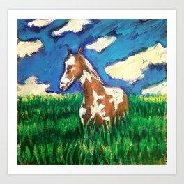 Painted fields Art Print