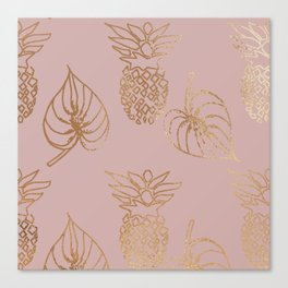 Gold Tropical Canvas Print