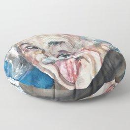ALBERT EINSTEIN - watercolor portrait Floor Pillow