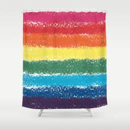 LGBTQ+ Pride Flag Monet Style Graphic Design Shower Curtain