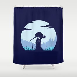 Grey Wolf Sif (Dark Souls) Shower Curtain