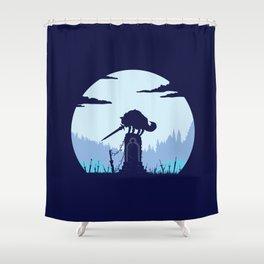Grey Wolf Sif (Dark Souls) Shower Curtain