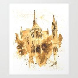 Gothic Notre Dame Art Print