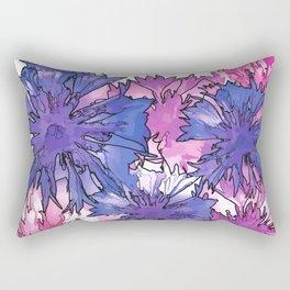 Cornflower Collage Rectangular Pillow
