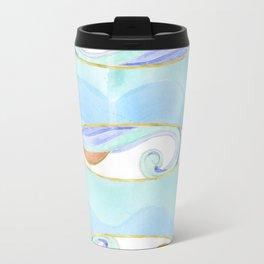 Surfboard retro watercolor Travel Mug