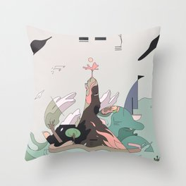Windy Island Throw Pillow