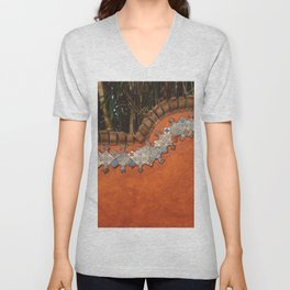 Mexican Tile Unisex V-Neck