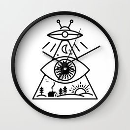 They Watch Us Wall Clock