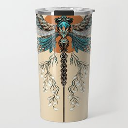 Dragonfly Tattoo Travel Mug