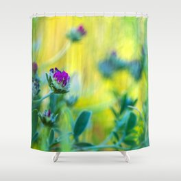 Garden of vibrant colors wildflowers II Shower Curtain